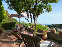 La Cachette sea view terrace